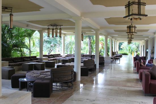 Melia Caribe Tropical All Inclusive Beach Golf Resort Lounge Area Outside Restaurants