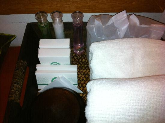 APK Resort & Spa: shampoo. conditioner and bath foam