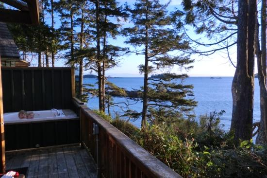 Middle Beach Lodge: private hot tub...stunning views