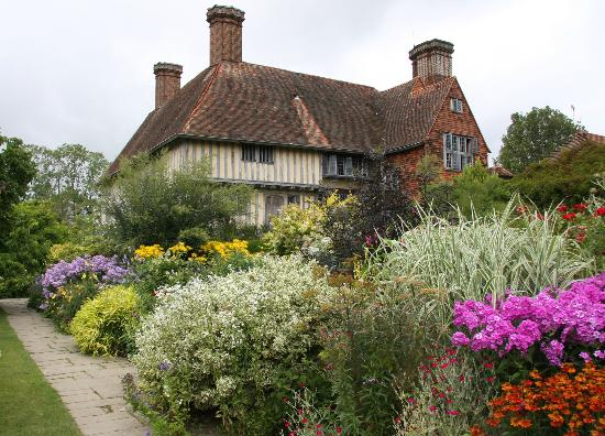 Northiam, UK: The house seen from the garden. 