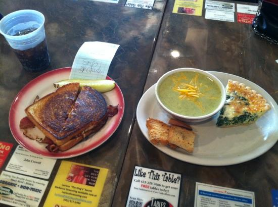 River Street Deli : soup and quiche and sandwiches we're delicious!