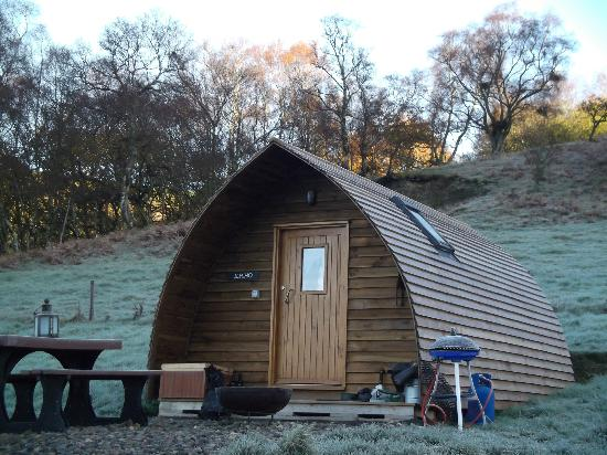 Black Hall Lodges: Wigwam after a frosty night