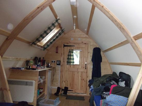 Black Hall Lodges: View inside, very cosy