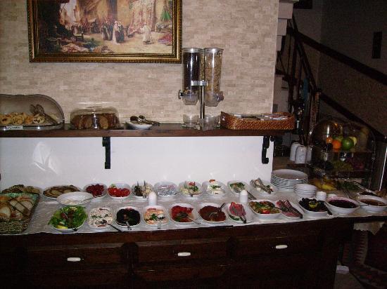 Esans Hotel: Vue du buffet du petit-déjeuner