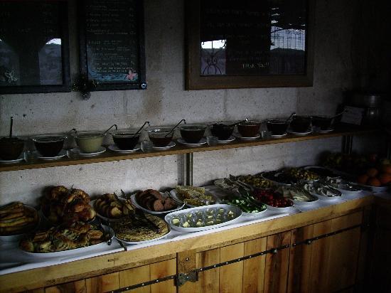 Kelebek Special Cave Hotel: Vue du buffet du petit-déjeuner