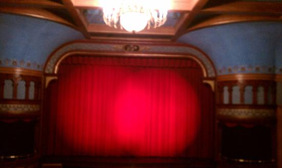 Wheeler Opera House: Red Curtain stage view from balcony
