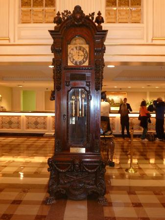 Beautiful grandfather clock in lobby - Picture of Hotel Monteleone, New Orleans - TripAdvisor