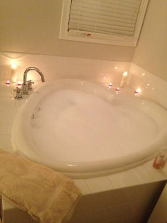Lithia Springs Resort: heart shaped tub in the Tower Room