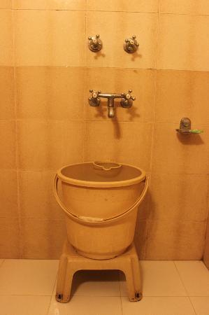 Hotel Tara Palace: Typical bathroom facilities