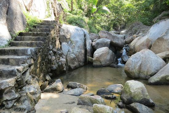Ocean Grill Restaurant & Beach Club: Cool mountain stream