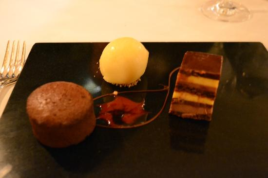 Langley Castle Hotel: Chocolate Heaven Dessert