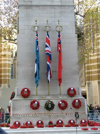 The Cenotaph after the service
