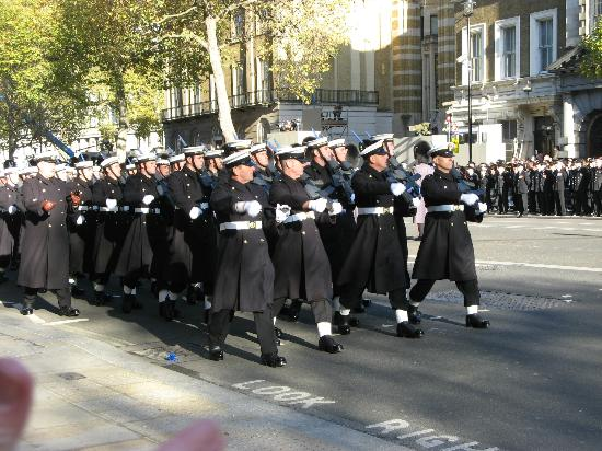 Cenotaph : Marching out after the service