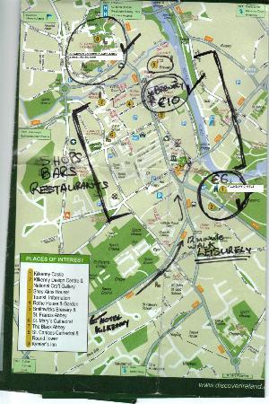 Hotel Kilkenny: Kilkenny map