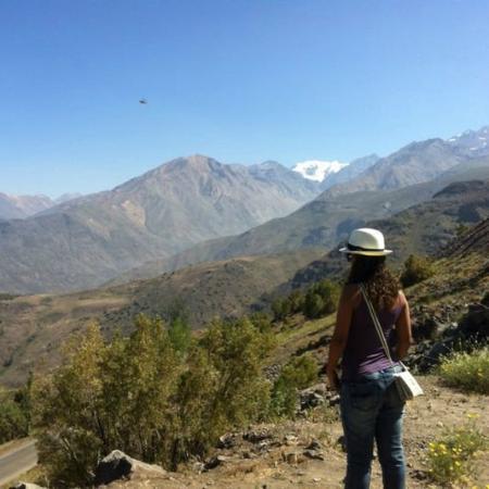 Valle Nevado, Χιλή: Poeira... e uma geleira eterna ao fundo