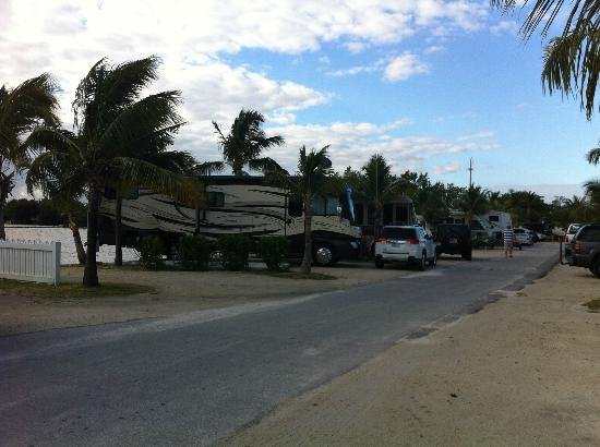 ‪‪Boyd's Key West Campground‬: example of RV site on the water‬
