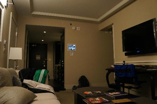 Hard Rock Hotel and Casino: salon, dock pour iPod/iPhone encastré dans le mur