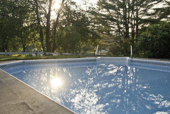 Golden Stage Inn Bed and Breakfast: Enjoy the full sized in-ground pool on hot summer days.