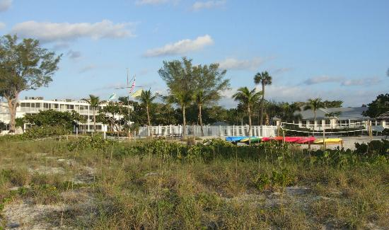 Island Inn: The inn viewed from the dunes.