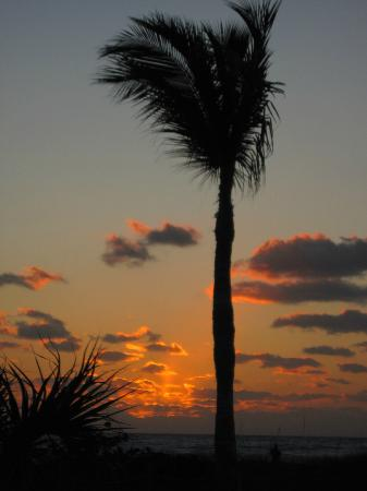 Island Inn: Sunset standing near the pool.