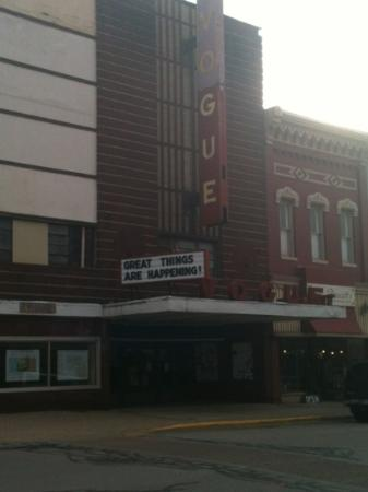 Manistee Inn & Marina: neat old theater across the road