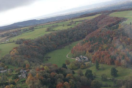 Woodchester Mansion from my glider flight