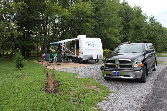 Up the Creek RV Camp : Camping site