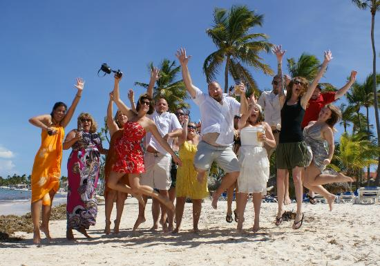 Dreams Palm Beach Punta Cana: Jumping for joy!