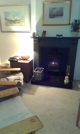 Room At 24: Downstairs lounge, lovely fire!