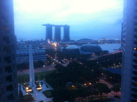 Fairmont Singapore: the view.
