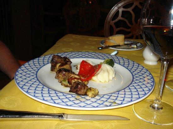 Plato servido en el Restaurante Las Reses.