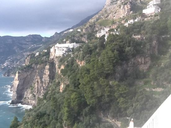 Casa Angelina: view from our room of Positano.