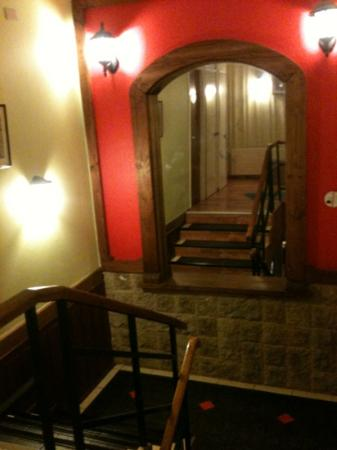 Hotel Rucaitue: escaleras