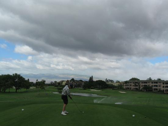 Waikoloa Village Golf Club : A view from the first hole.