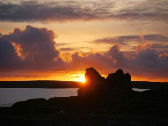 Sunset from our room at The Sumburgh Hotel