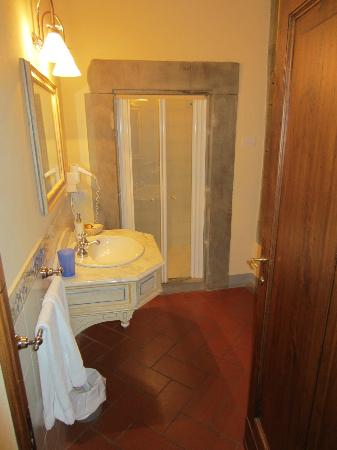 Villa Borgo San Pietro: Rm 123 bath.  Large shower built into stone wall