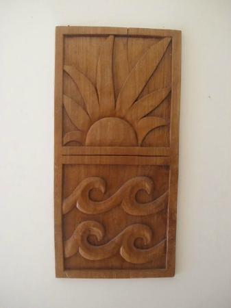 Ho'oilo House: Pretty woodwork art