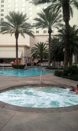 Monte Carlo Resort & Casino: they have hot tibs, lazy river, pool, volleyball