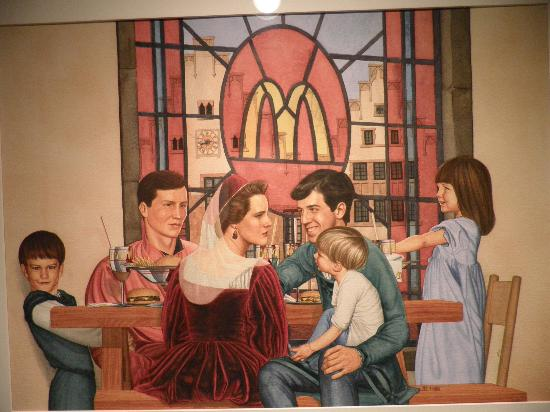 The Hyatt Lodge at McDonald's Campus: paintings in the hall