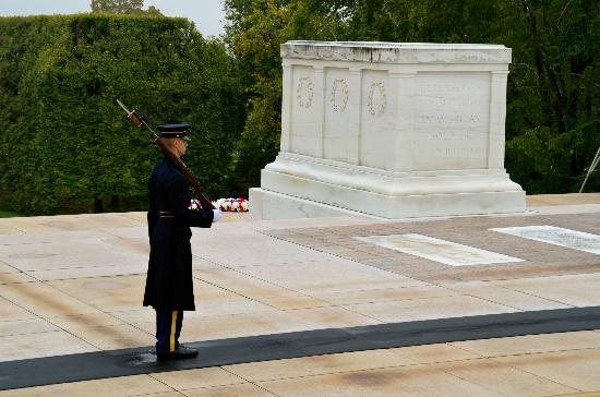 Arlington National Cemetery: The guard takes 21 steps, waits 21 seconds, turns, and takes 21 steps back for half hour shifts.