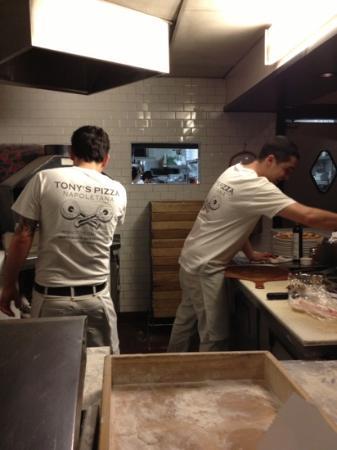 Tony's Pizza Napoletana: Talented Chefs at work