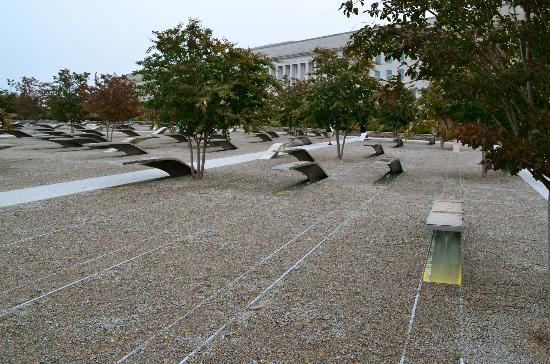 Pentagon Memorial: So many people...