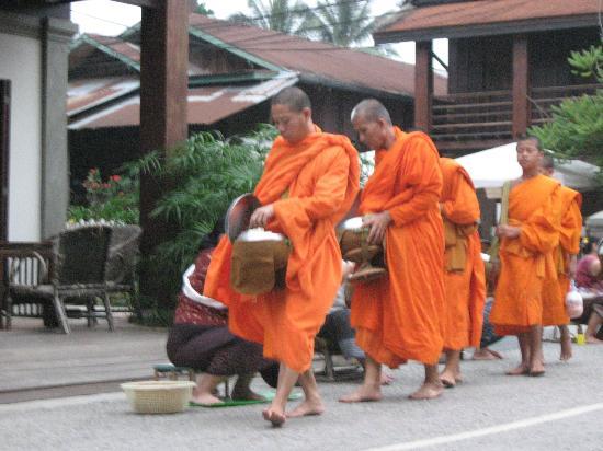 Indigo House: Los monjes vistos desde el comedor
