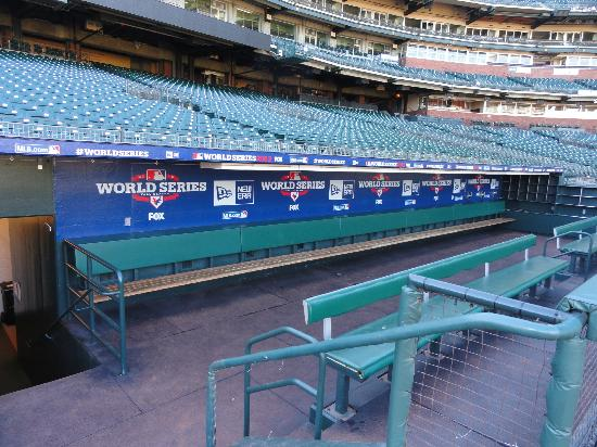 Visitors' Dugout during Oracle Park Tours