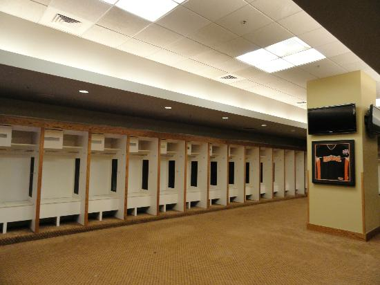Oracle Park Visitors' Locker Room During Tour