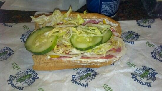 Brooklyn Pickle: Italian half roll.