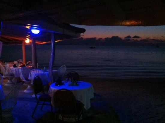 Negril Tree House Resort: sunset dinner