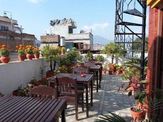 أنابورنا جست هاوس: Roof terrace 