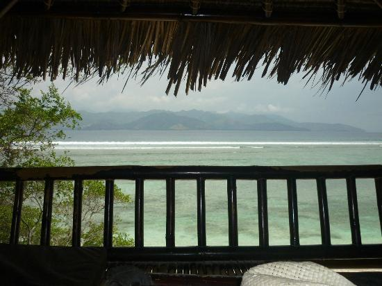 The Trawangan Resort: View from beach hut