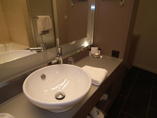 Starling Hotel Lausanne : Coin lavabo